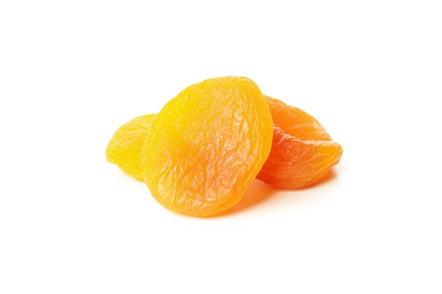 Tasty dried apricot isolated on white background