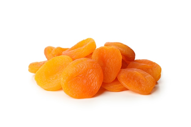 Tasty dried apricot isolated on white