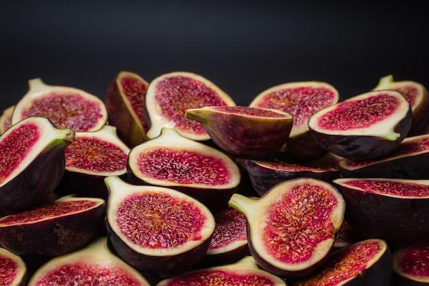 Tasty figs slices background