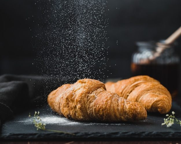 Tasty french croissants