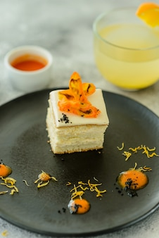 Tasty fresh carrot crackers cake