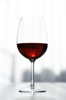 Tasty glass of red wine close-up Free Photo