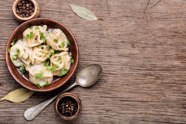 Tasty homemade meat dumplings