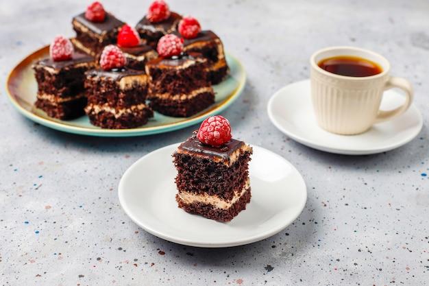 Tasty homemade mini chocolate cakes