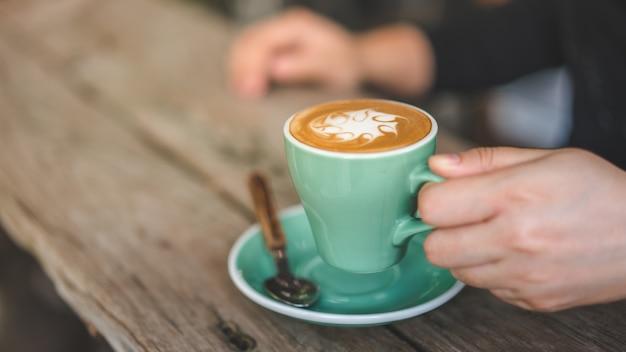 Tasty hot latte coffee