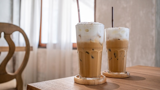 Tasty iced cappuccino coffee