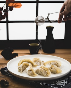 Tasty italian dumplings recipe served on a plate