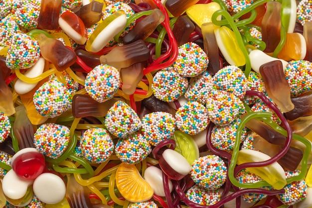 美味しいゼリー菓子。上面図。