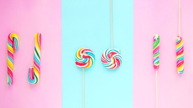 Вкусные леденцы и конфеты