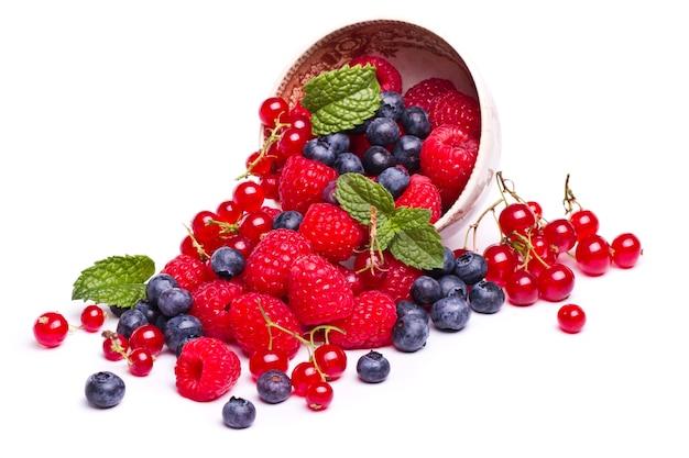 딸기의 맛있는 혼합