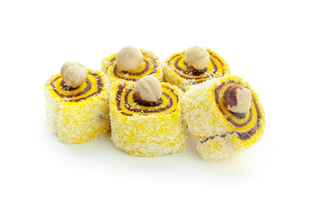 Tasty oriental sweets isolated
