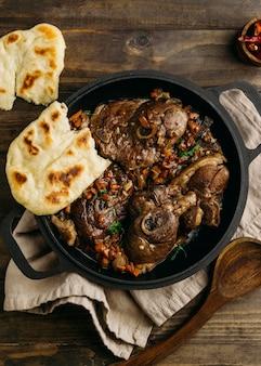 ビューの上のおいしいパキスタン料理