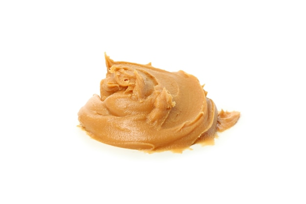 Tasty peanut butter isolated