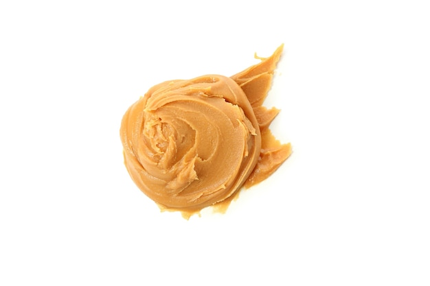 Tasty peanut butter isolated