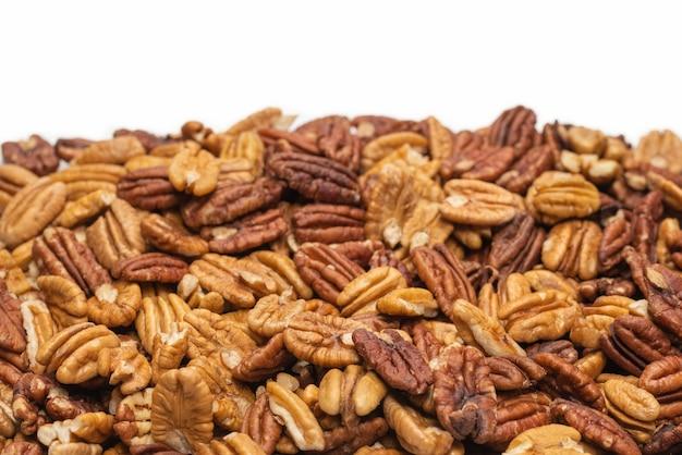 Вкусная поверхность орехов пекан