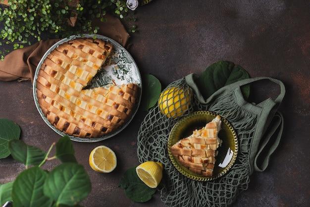 リコッタチーズとレモンのおいしいパイ