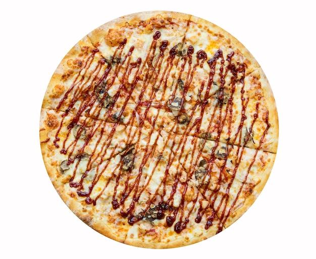 Вкусная пицца-шашлык