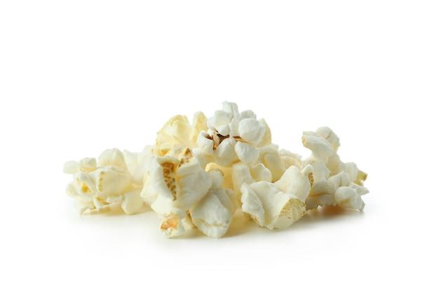 흰색 배경, 영화 음식에 격리된 맛있는 팝콘.