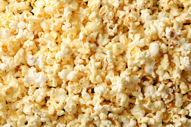 Tasty popcorn on whole. food for watching cinema