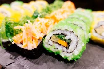 Tasty rice delicacy fresh fish