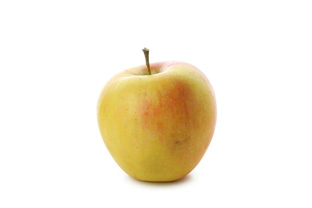 白い背景に分離されたおいしい熟したリンゴ