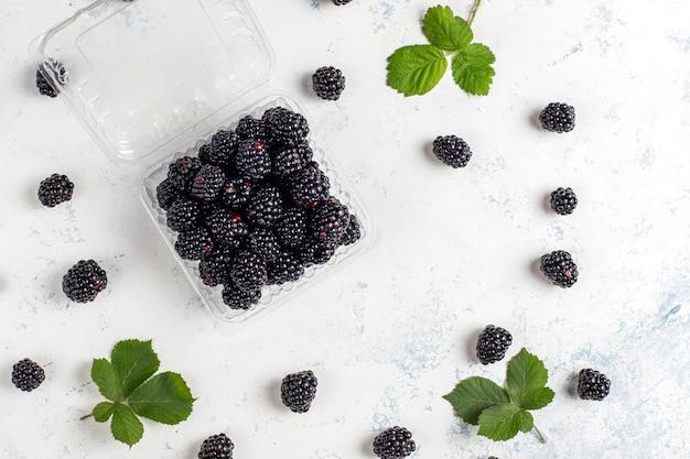 Tasty ripe sweet healthy blackberry.