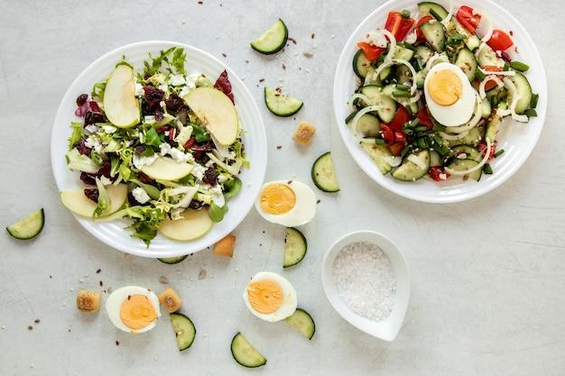 계란과 맛있는 샐러드