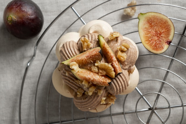 Tasty traditional dessert composition