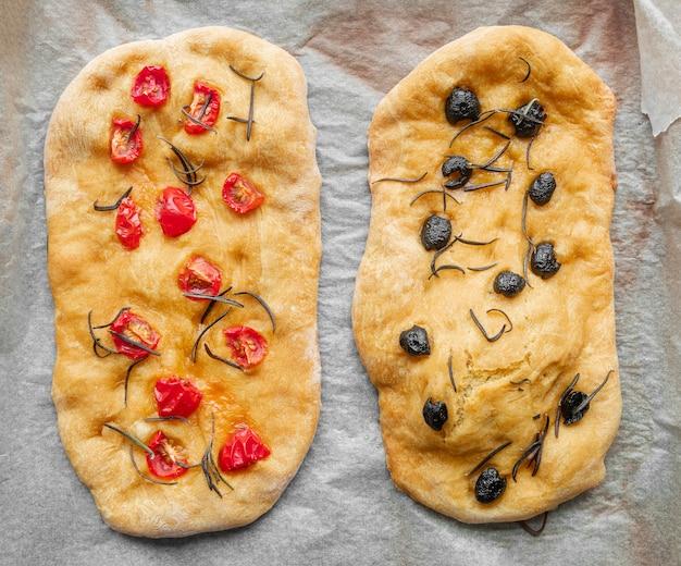 맛있는 전통 피자 모듬