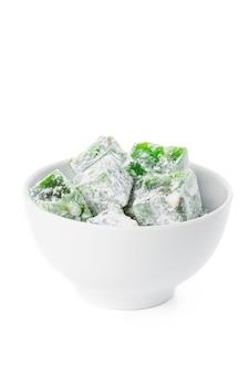 Tasty turkish delight isolated on white