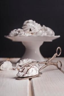 Tasty white marshmallows