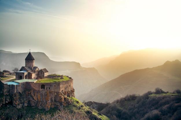Tatev monastery and mountain in armenia