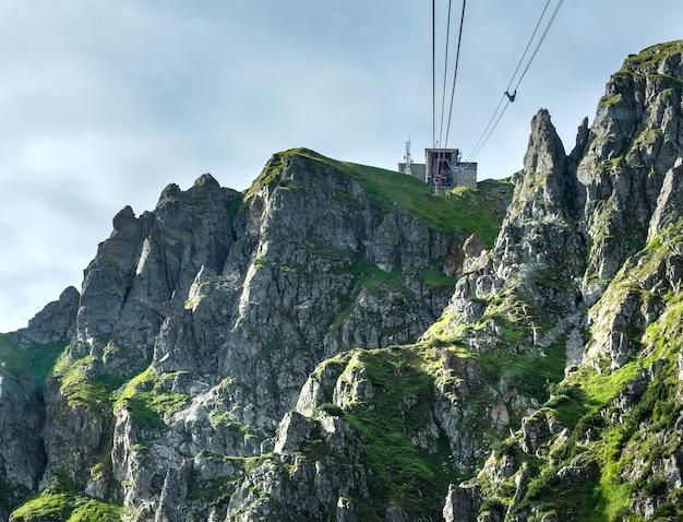Tatra 산, 폴란드, kasprowy wierch 산으로가는 케이블카