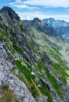 Tatra mountain, poland, view from kasprowy wierch mount