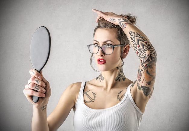 Tattooed stylish girl