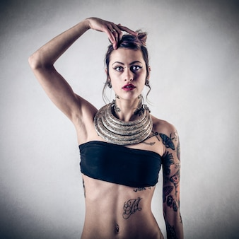 Tattooed stylish girl