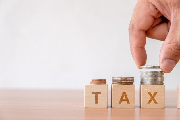 Tax and financial management taxes season in business.