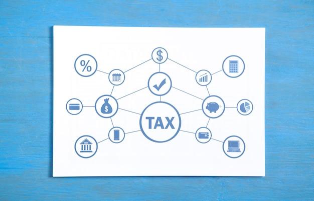 Налог на бумаге. бизнес. финансы. сеть. технология