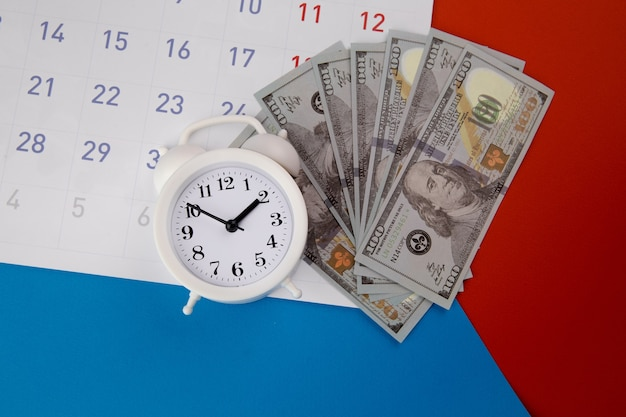 Tax payment season and finance debt collection deadline concept