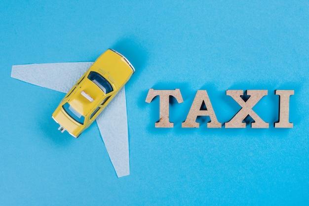 Автомобиль такси с крыльями, машина будущего.