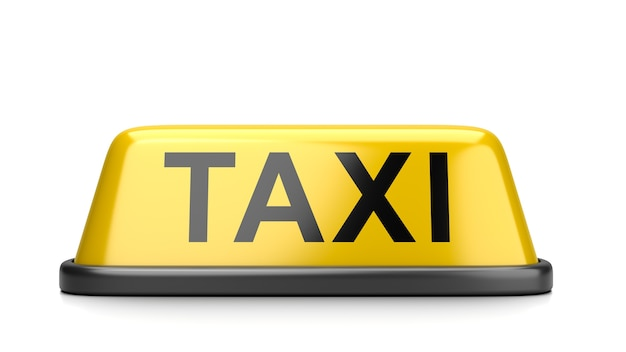 Taxi roof signboard isolated