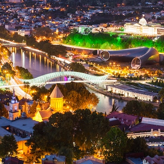 Tbilisi aerial view