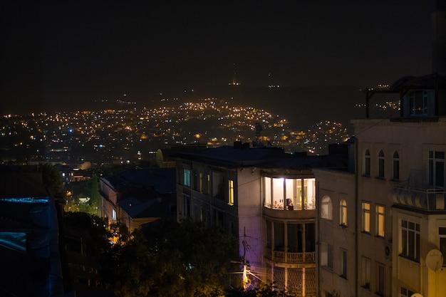 트빌리시, 조지아, 밤 도시 보기