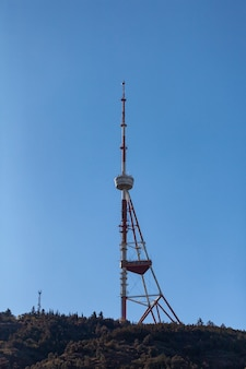 Tbilisi tv tower on mount