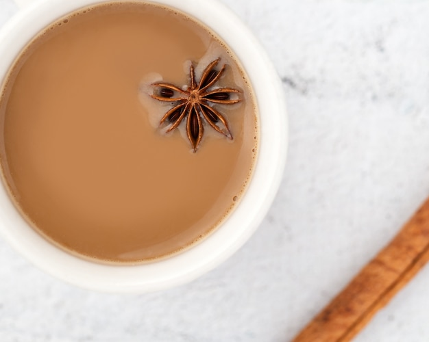 Tea of anise and milk