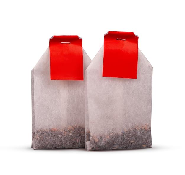 Чайный пакетик, изолированные на белом фоне
