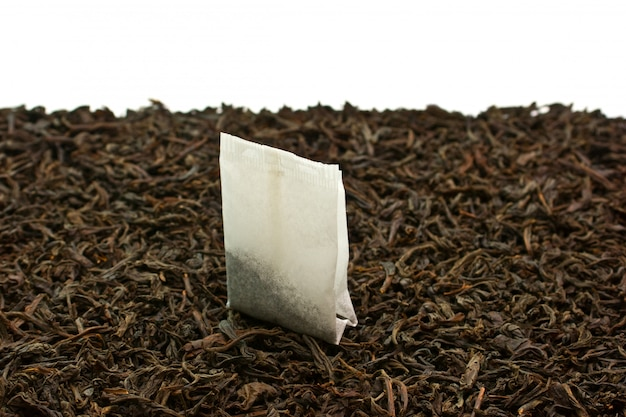 Tea bags isolated on a white background
