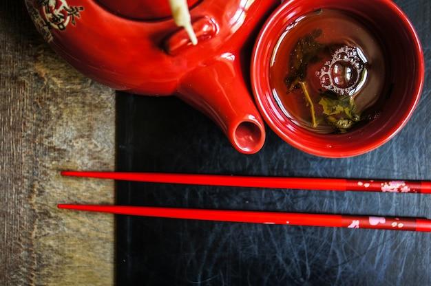 Tea and chopsticks set