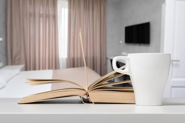 Tea or coffee mug on a table