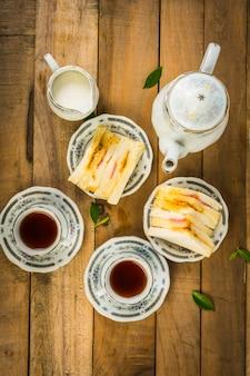Tea composition, tea set